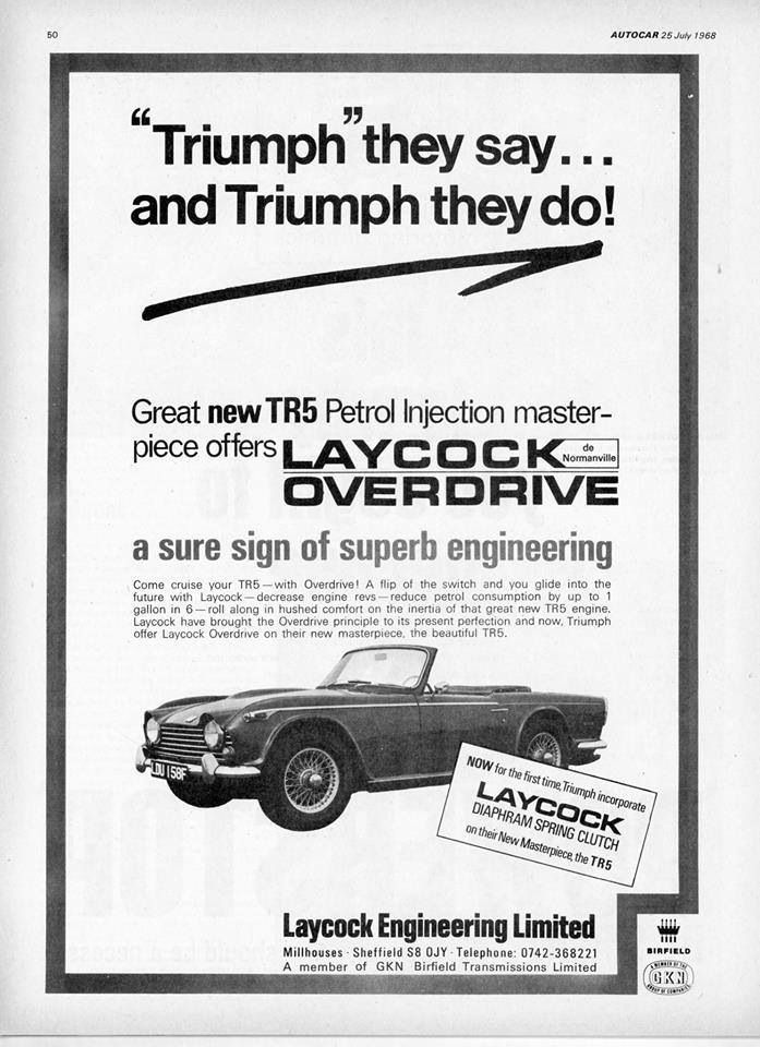 Triumph TR5 with Laycock Overdrive