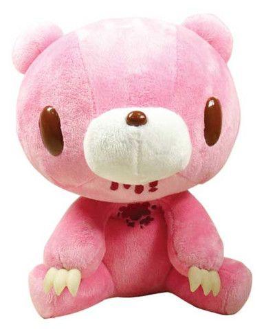Crunchyroll - Gloomy Bear Sits Down Prime Plush (Pink with Blood)