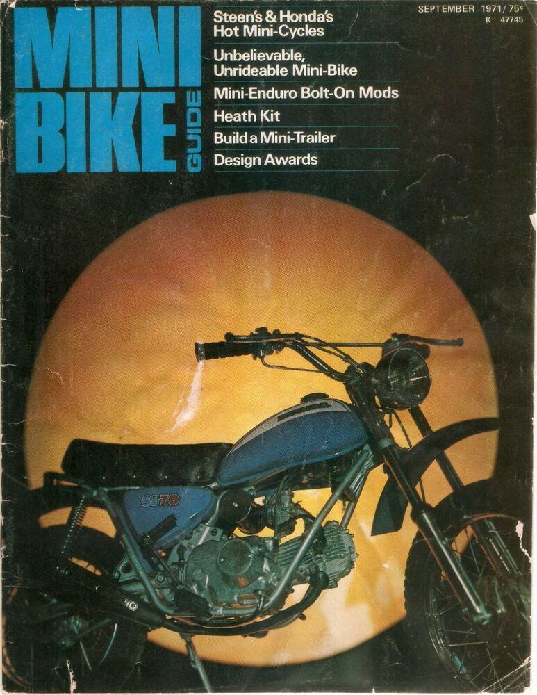1971 Mini Bike Guide Magazine Minicycle Magazine Photo Copy On A
