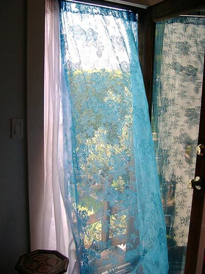 Look Flowing Curtain Instead Of A Screen Door Sheer Curtains