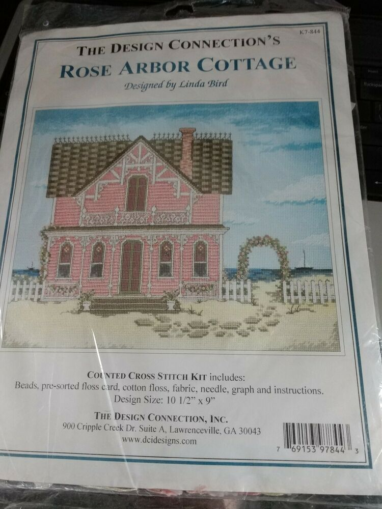 Rose Arbor Cottage Cross Stitch Kit By The Design Connection New