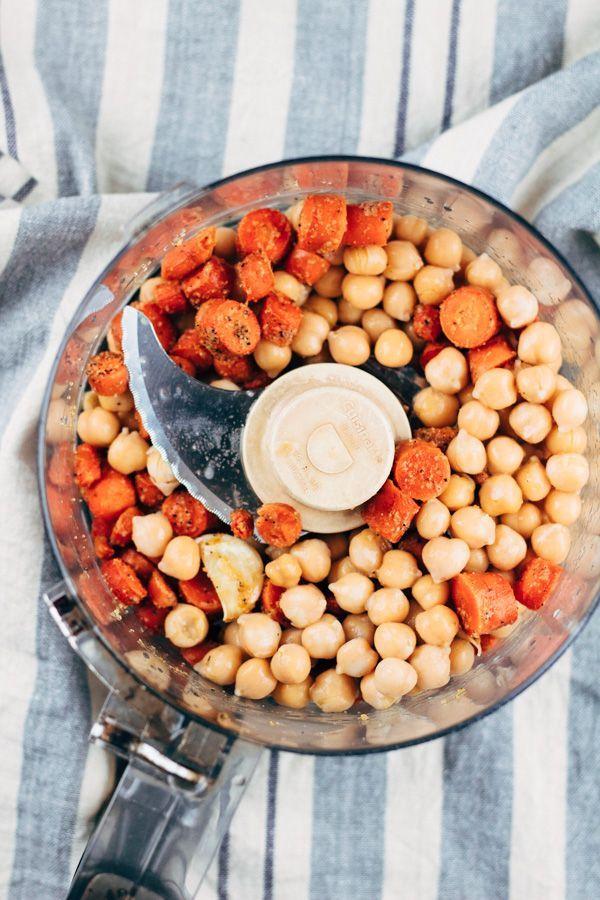 Oil Free Vegan Roasted Carrot and Garlic Hummus Vegan Roasted Carrot and Garlic Hummus Dip!
