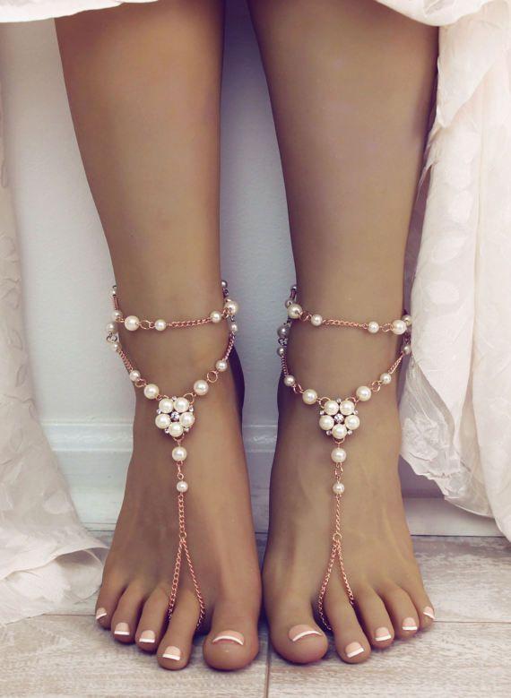40 Beach Wedding Shoes Barefoot Sandals