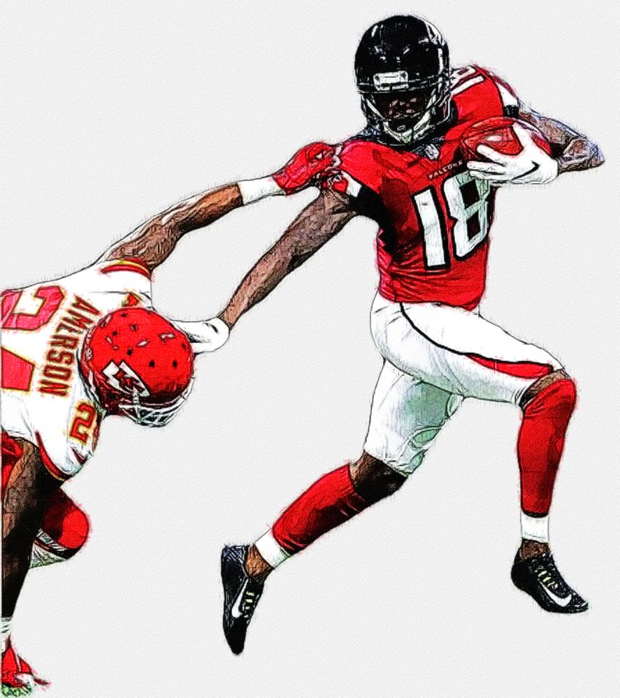 Calvin Ridley Falcons Wr Football Illustration Nfl Nfl Football