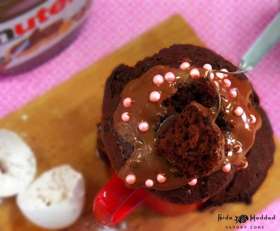 كيك الشوكولاتة بالمايكرويف بدقيقتين Recipe Microwave Recipes Desserts Chocolate Cookie