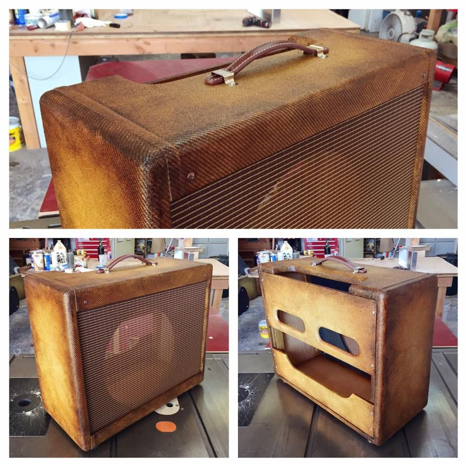 yet another bourbon burst amp shell for milkman sound vintage amplifiers i love these things. Black Bedroom Furniture Sets. Home Design Ideas