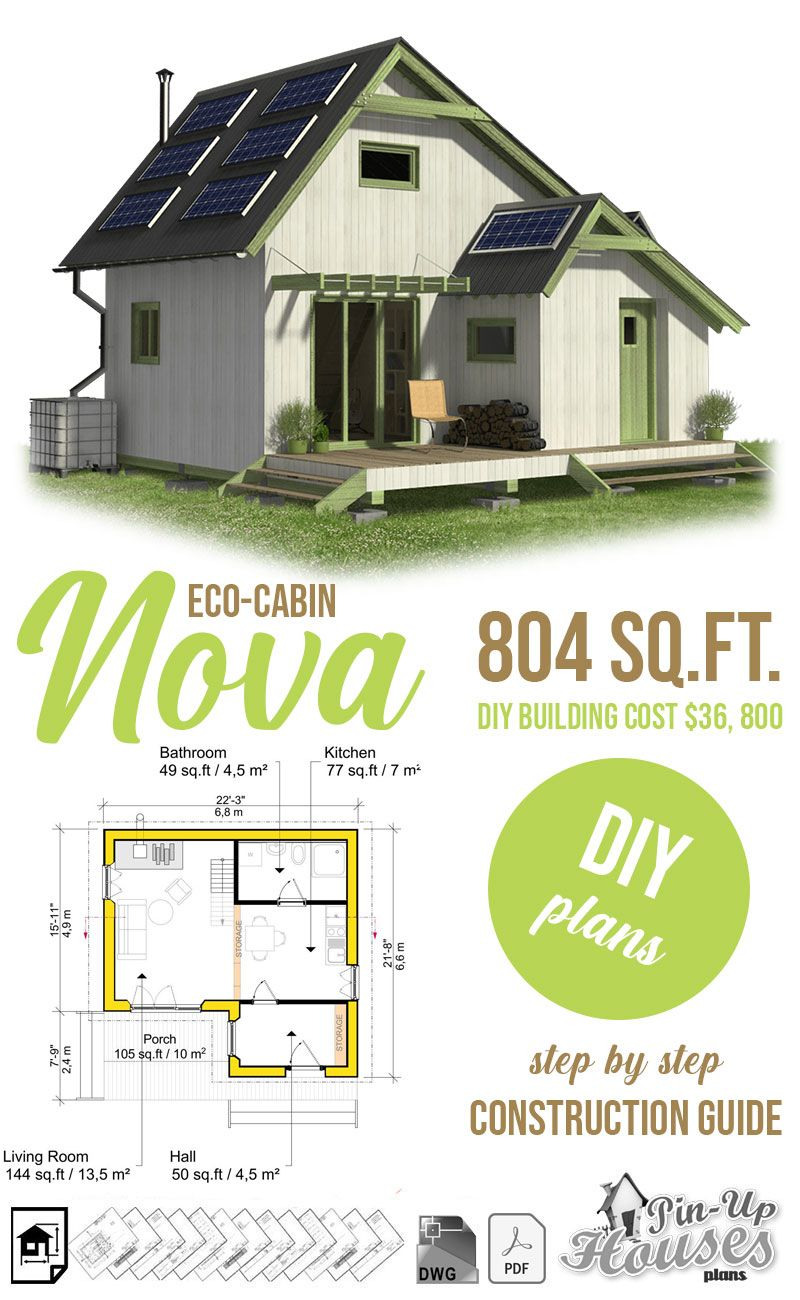 Eco Cabin Plans In 2020 Eco Cabin Eco House Plans Eco House Design