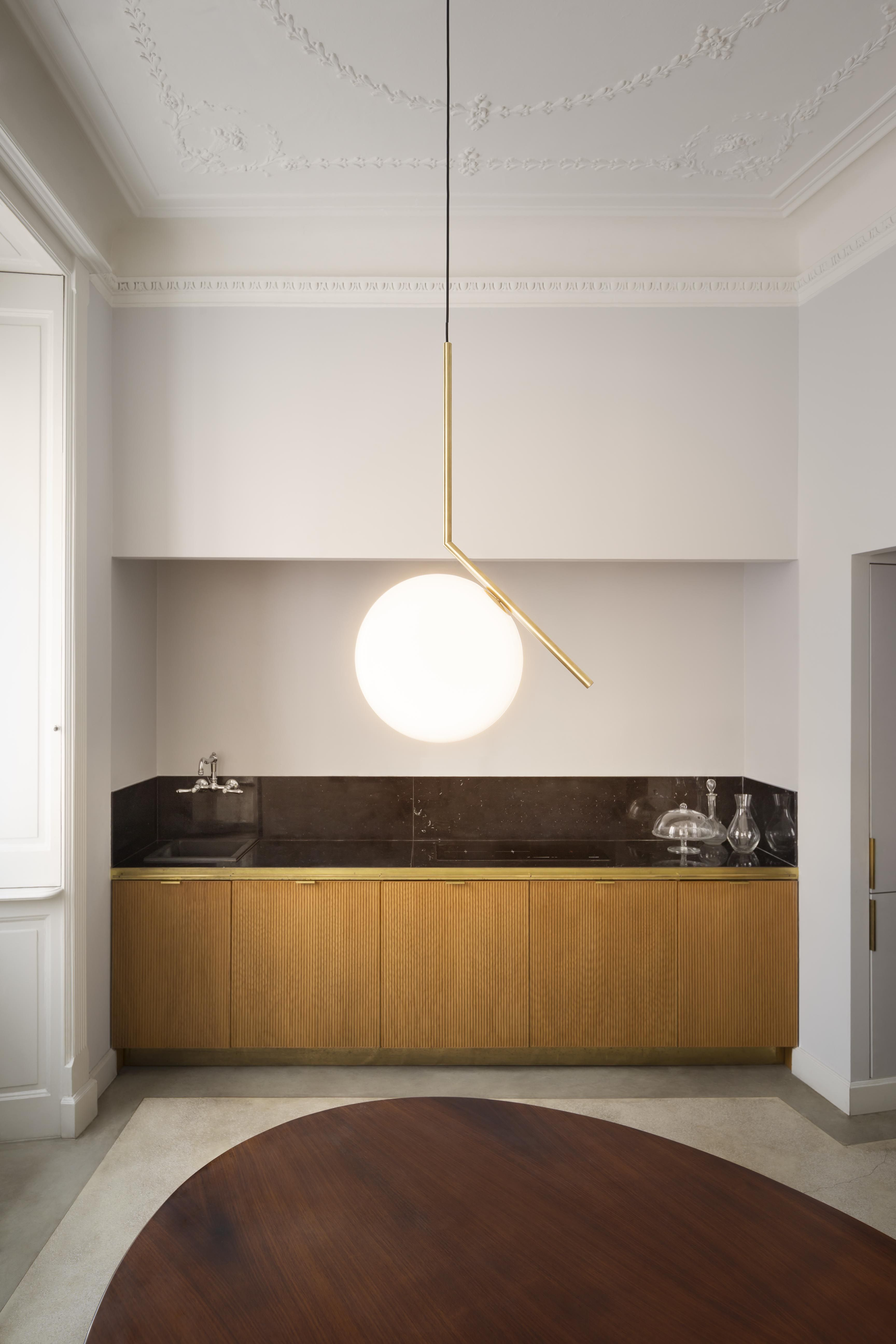 Ic light s2 brass designed by michael anastassiades for flos lighting interior pinterest - Ic lights flos ...