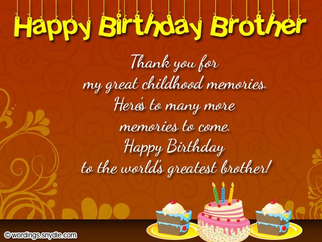 Brother Birthday Wishes Best 50 Birthday Messages For Your – Happy Birthday Cards for My Brother