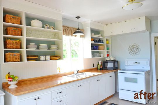 I want to paint the inside of my cabinets!!! Kitchen Inspiration