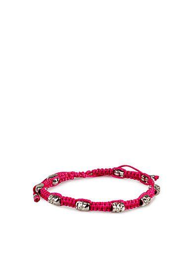 Skull Macrame Bracelet S - Timi - Kirsebær - Smykker - Tilbehør - Kvinde - Nelly.com  #Skulls #Nelly #Timi #Bracelet