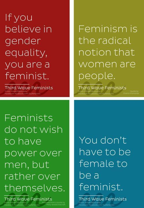 "Yes, you are a feminist! ""If you believe in gender equality, you are a feminist.  Feminism is the logical notion that women are people. Feminists do not wish to have power over man, but rather to have power over themselves.  You don't have to be female to be a feminist"""