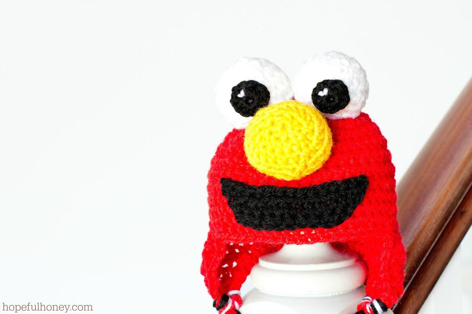 Sesame Street Elmo Inspired Baby Hat Crochet Pattern | Crochet ...