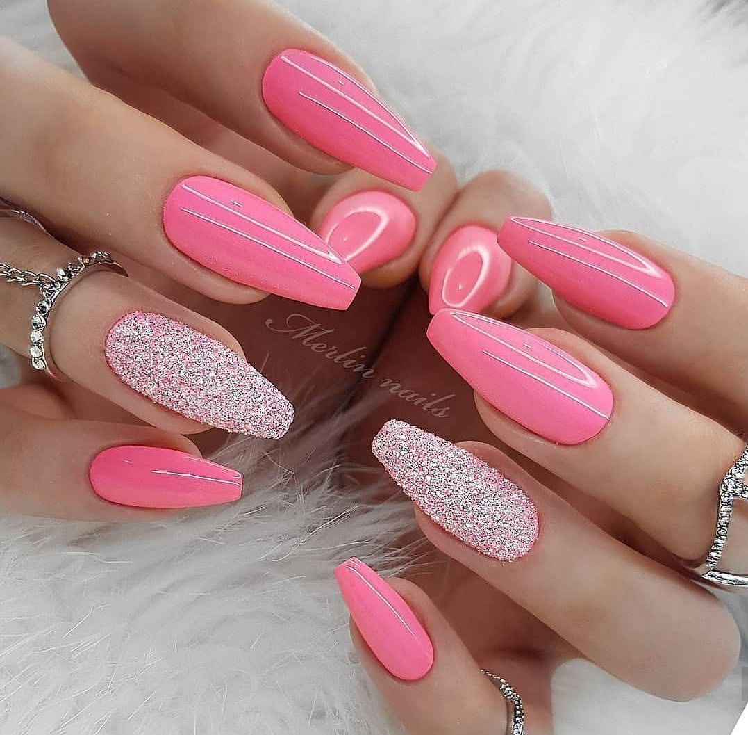 фото ногтей розовые с картинками есть все средневековая