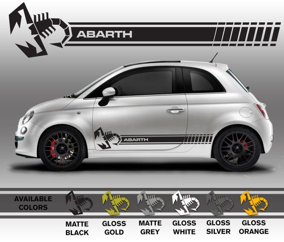 Professionally Made Fiat 500 Abarth Decals Scorpion By Mattebimmer 65 00
