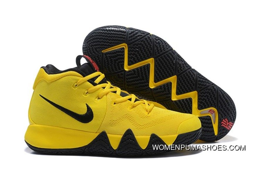 d68122243c2e 2018 Nike Kyrie 4 Mamba Mentality Bruce Lee In Tour Yellow And Black ...