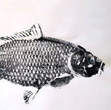 a fish print, an ink rubbing of a fish a fish print, an ink rubbing of a fish에 대한 이미지 검색결과