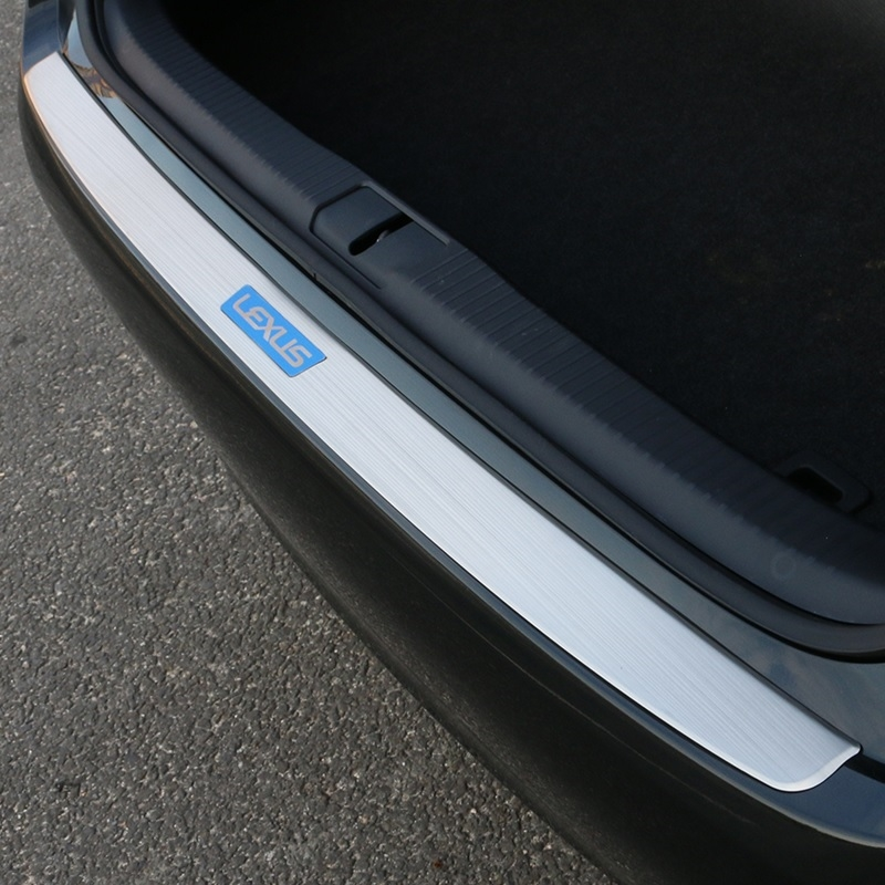 86.11$  Buy now - http://alikqc.worldwells.pw/go.php?t=32752641537 - Stainless Steel rear bumper sill plate protector cover for Lexus ES250 ES300 ES350 2013 2014 2015 86.11$