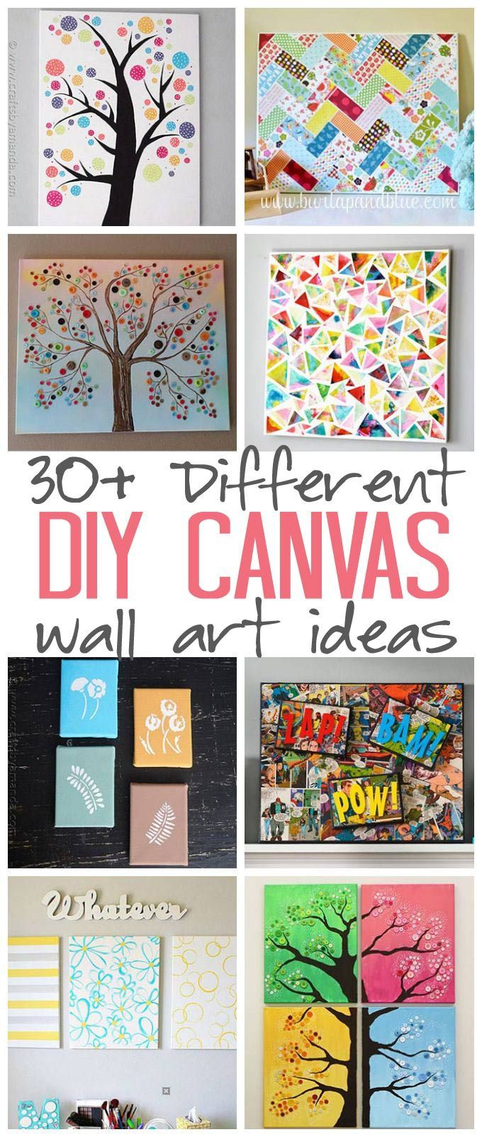 Canvas Craft Ideas For Kids Part - 42: Christmas DIY: DIY Canvas Wall Art DIY Canvas Wall Art Ideas: 30 Canvas  Tutorials For Adults - Great Ideas For Your Home Office Nursery And Craft  Room!