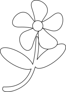 Flower black and white. Clip art