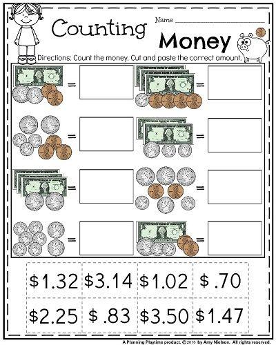 Money Worksheets For 2nd Grade Money Worksheets Teaching