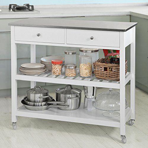 SoBuy® Küchenwagen Flurschrank Sideboard Beistelltisch 100x45x92cm - küchenwagen holz massiv