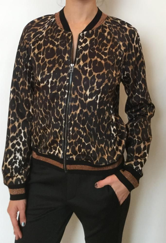 a2a43d0f05fd Pam & Gela Leopard print track jacket | Products | Jackets, Hooded ...
