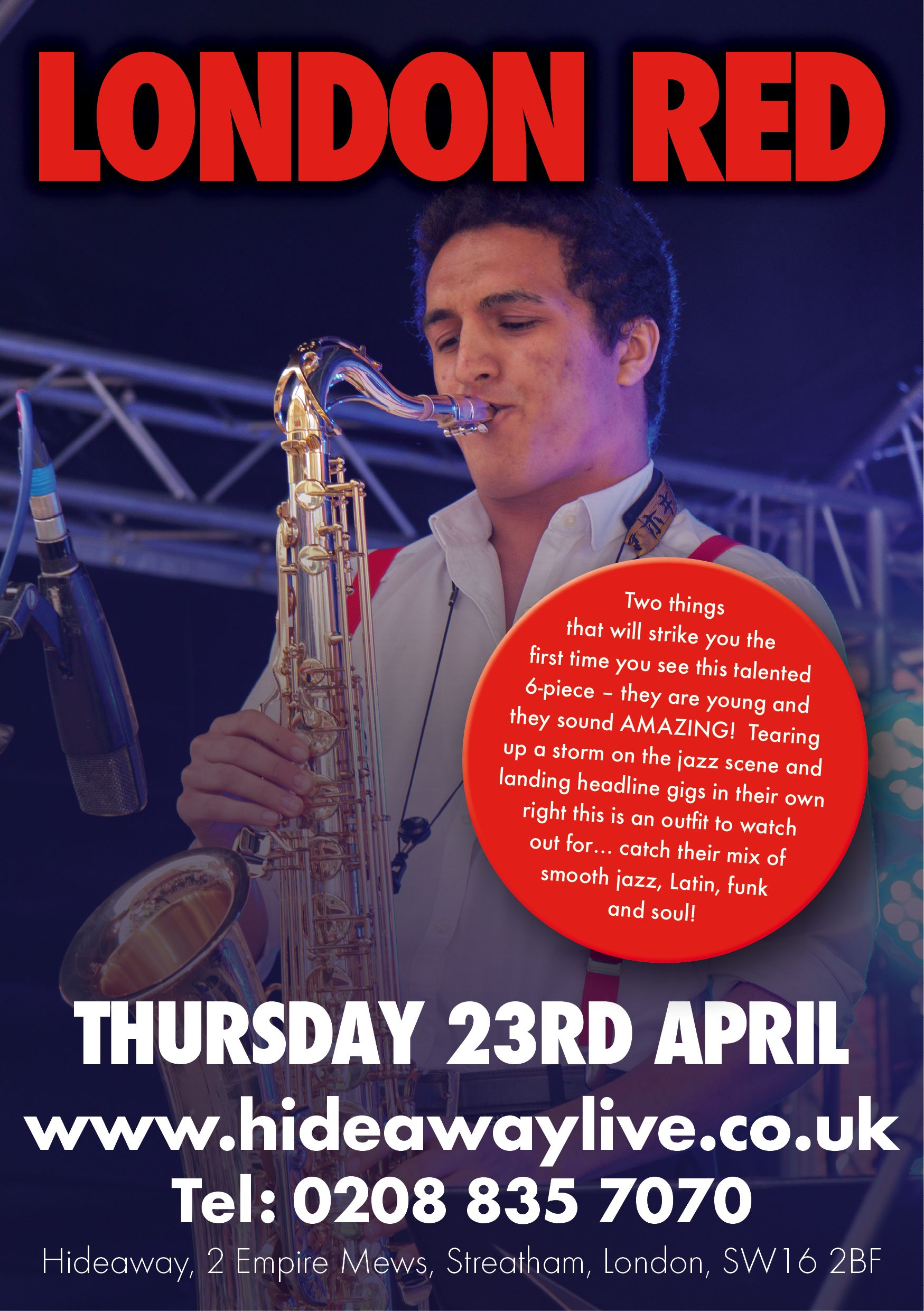 Jazz pop grooves from london red this thurs buy 3