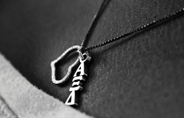 Alpha Xi Delta Necklace, Alpha Xi, Alpha Xi Delta