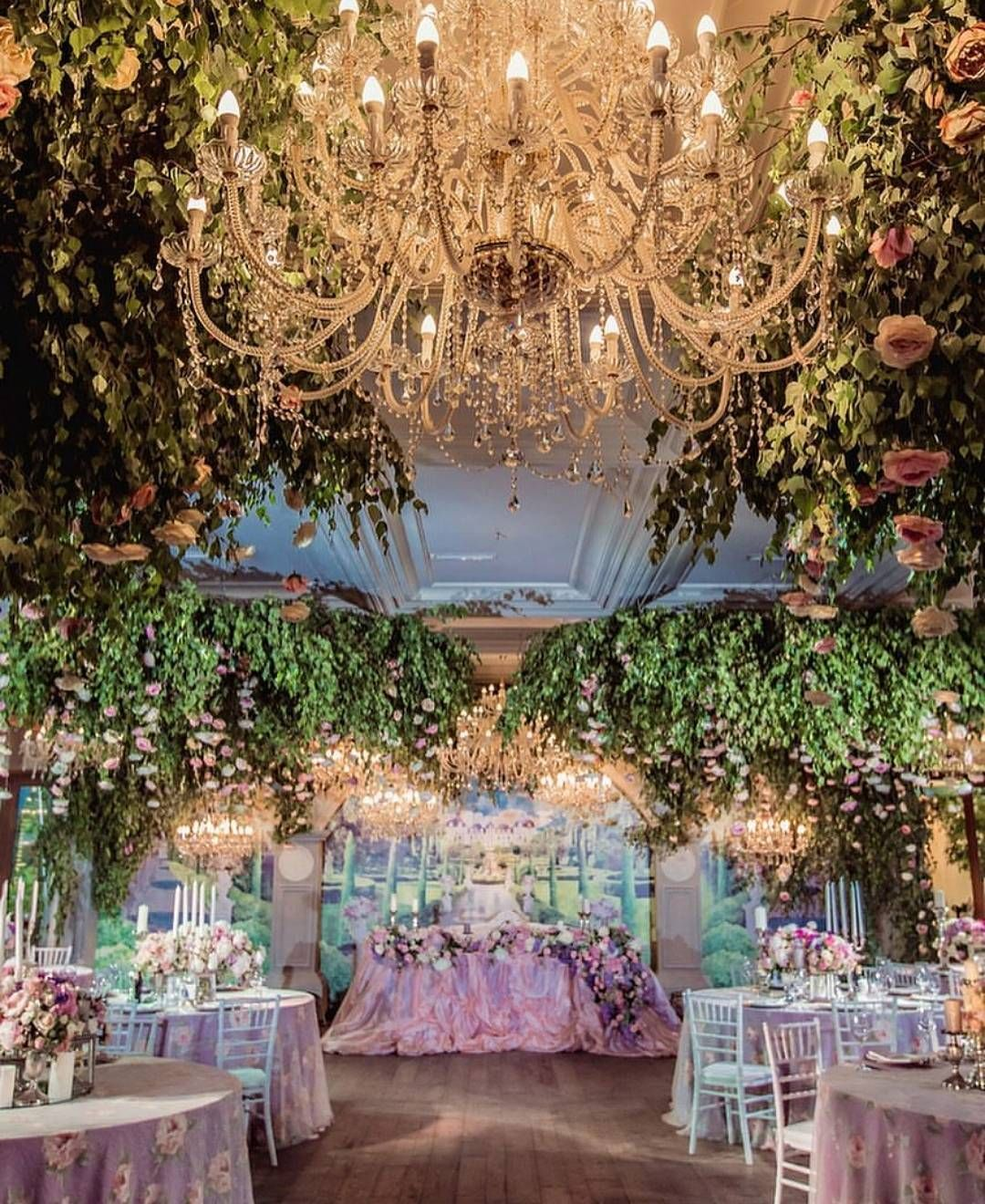 What about taking enchanted forest to an indoor wedding for Enchanted gardens wedding venue