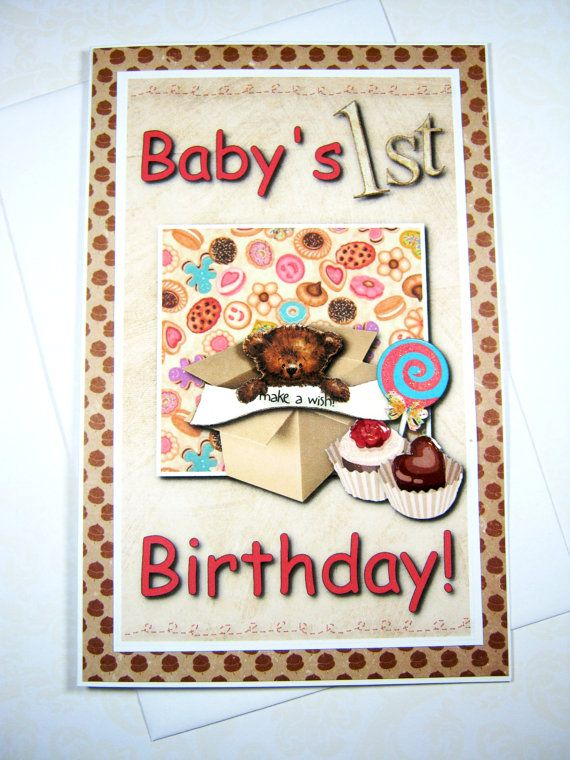Birthday Card Babys 1st Birthday Happy Birthday By Littledebskis