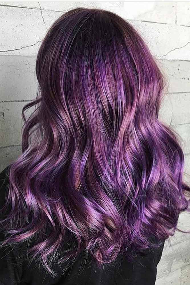 39 Cosmic Dark Purple Hair Hues For The New Image Color Mixing And