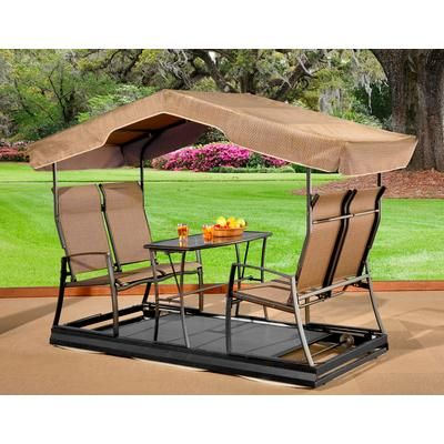 Sojag Bretagne Dark Brown 4 Seater Garden Swing Home Depot