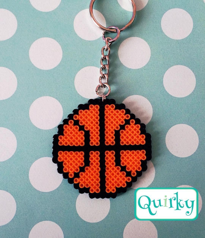 basket ball mini perler beads by merakihc pinteres. Black Bedroom Furniture Sets. Home Design Ideas