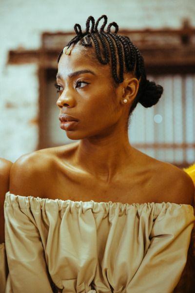 Nattes Cheveux Afro Crepus Naturels Coiffure Natte Cheveux Cheveux Afro