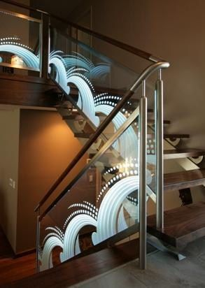Best Glass Panel Railing With Etched Design For The Yard Glass Panels Glass Etching Interior 400 x 300