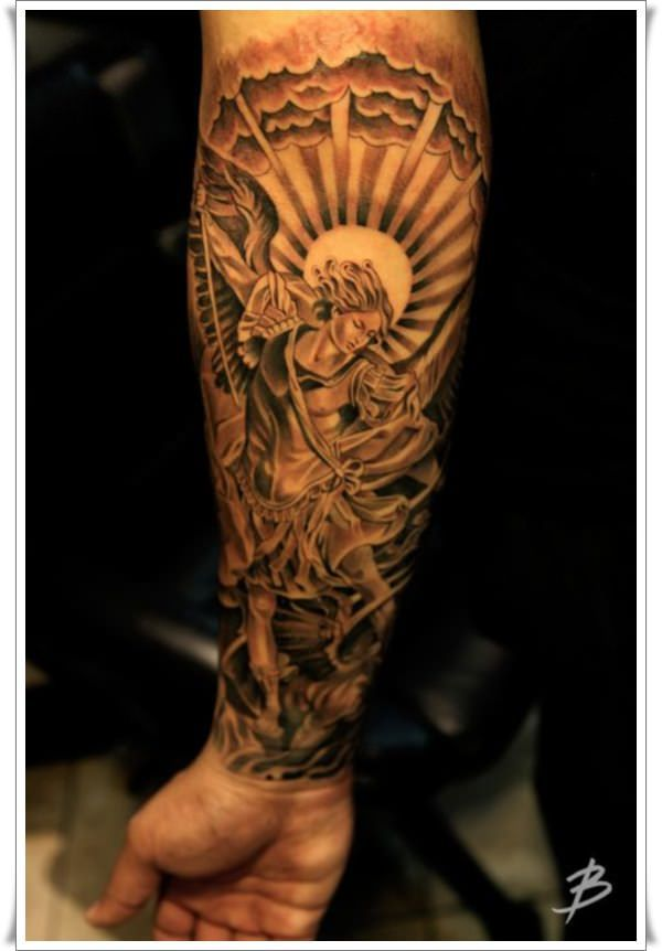 30 Perfect St Michael Tattoo Design Ideas Con Imagenes