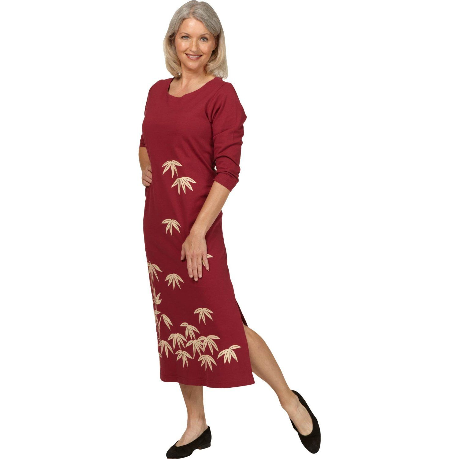 Summer Clothes for Women Over 50 | Bamboo Garden ¾ Length Sleeve ...