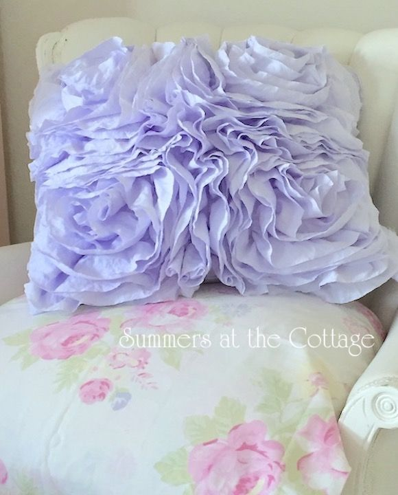 Best Shabby Lavender Fluffy Ruffled Roses Chic Overstuffed 400 x 300