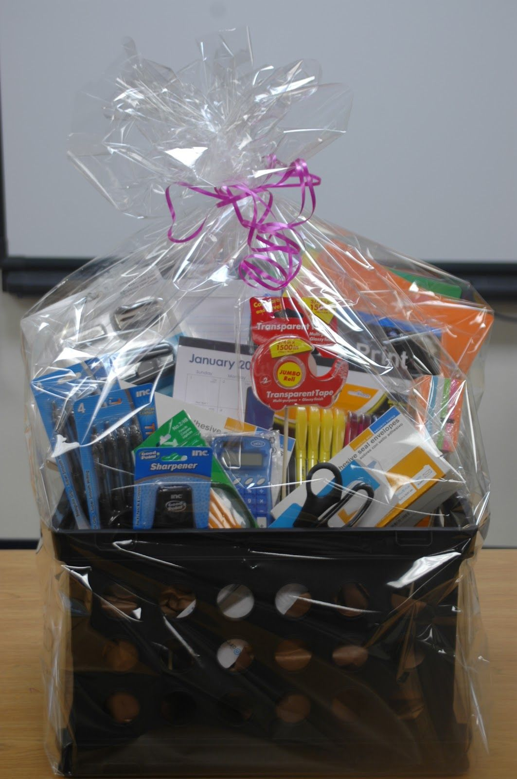 Office Supplies Gift Baskets Sometimes Practical Gifts Are The Most Worthwhile