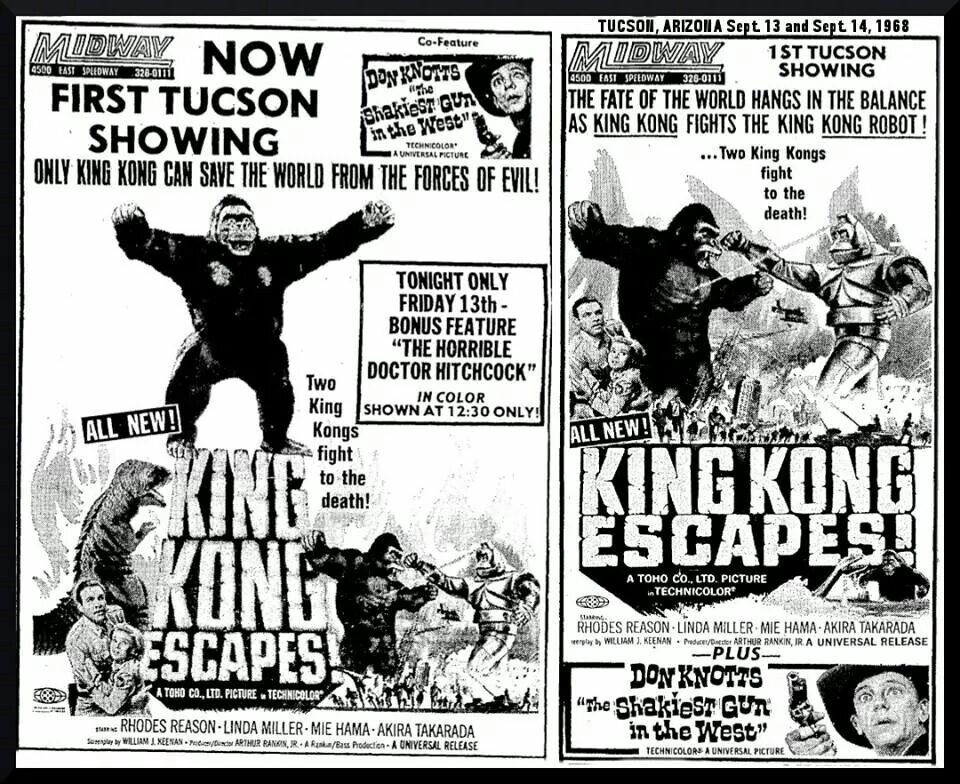 King kong escapes now playing coming soon drive in