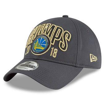7858a9e52cd New Era Golden State Warriors Charcoal 2018 NBA Finals Champions Locker Room  Replica 9TWENTY Adjustable Hat