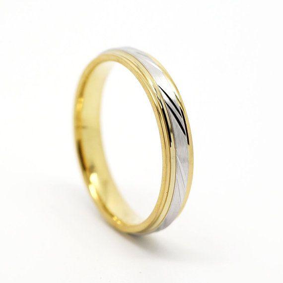 4mm Gold Ring 10k 14k 18k Gold Wedding Band Wedding Ring Etsy Etsy Wedding Rings 18k Gold Wedding Bands Rings For Men