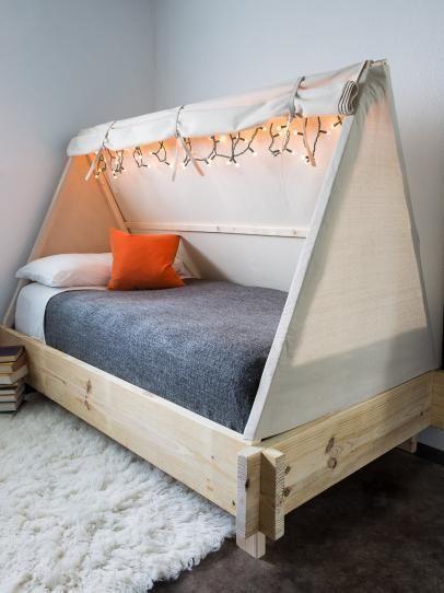 build a tent bed d co maison en 2019 chambre enfant. Black Bedroom Furniture Sets. Home Design Ideas