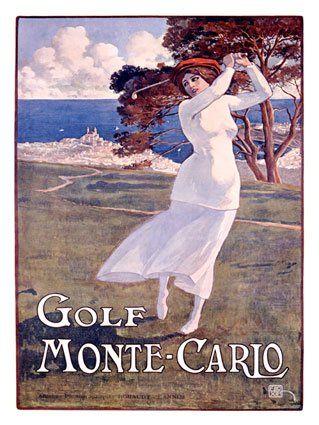Monte Carlo Golf Poster