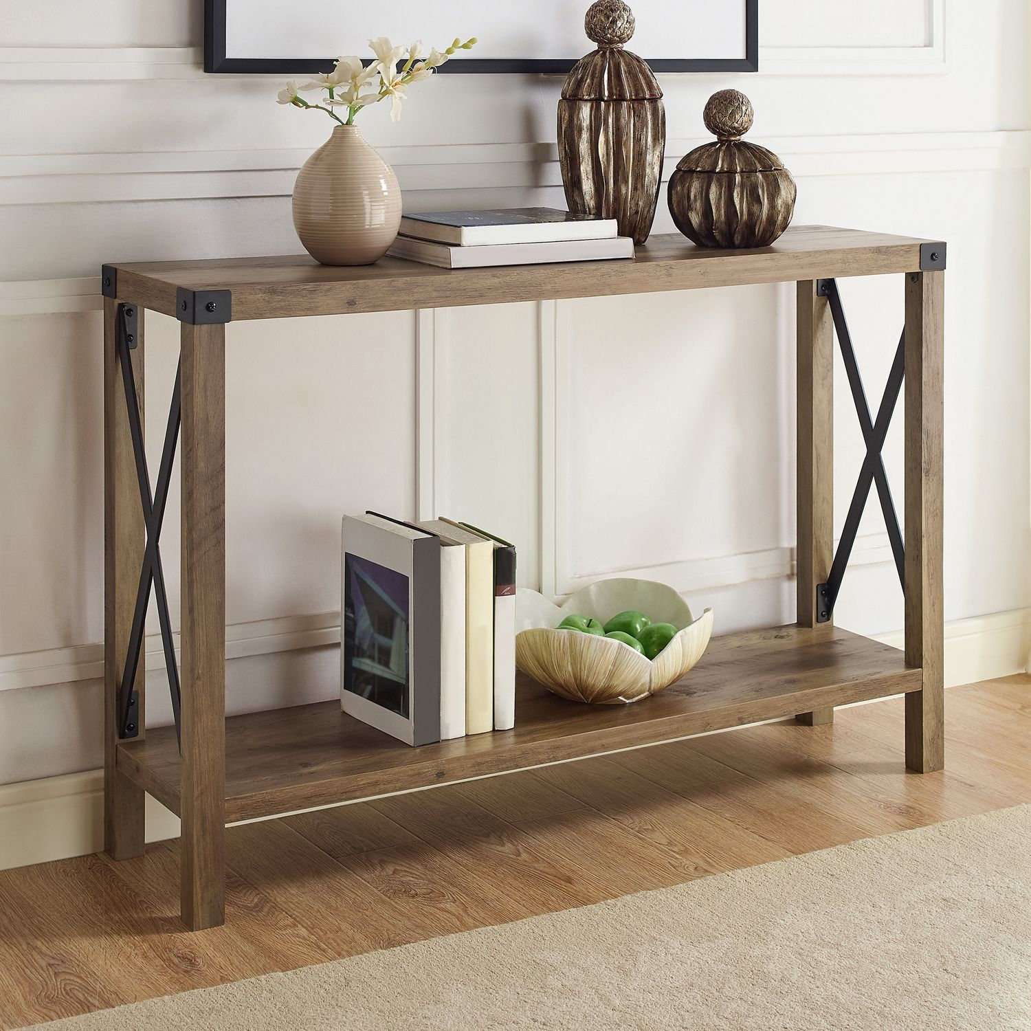 Null Farmhouse Console Table Rustic Console Tables Console
