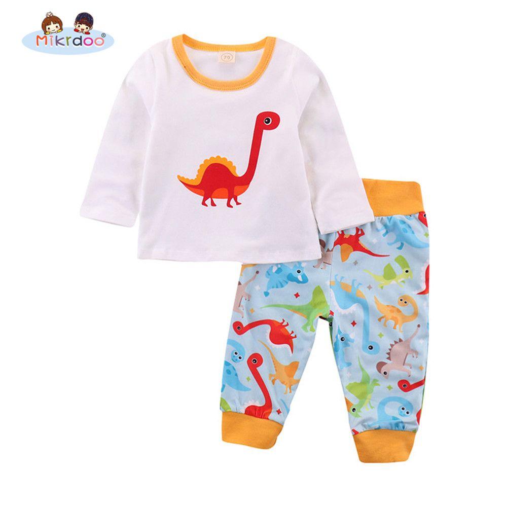 c4415375f Newborn Toddler Baby Boys Girls Clothes Set Colorful Dinosaur ...