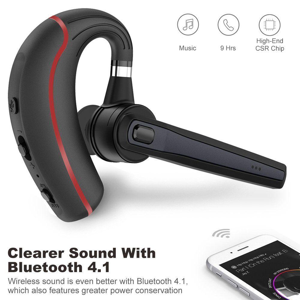 Bluetooth Headset Wireless Earpiece For Cell Phones Inear Piece Hands Free Earphones Headphone Car Speakerphones Kits Bluetooth Headset Phone Speaker Earpiece
