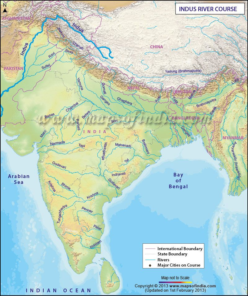 Map Of Indus River Route Map of Indus River | General in 2019 | India map, Indian