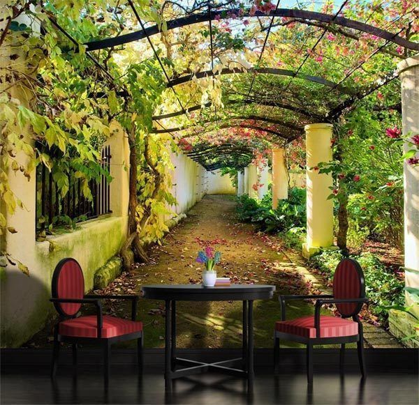 Garden Pergola Mediterranean Arbor Full Wall Mural Photo Wallpaper Home Kids Nice Look